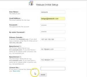 Form Cara Install Webuzo, Control Panel Hosting pengganti CPanel